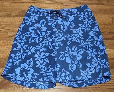 Patagonia Men's Pataloha Board Shorts Swimsuit Trunks Size 30 Blue Floral