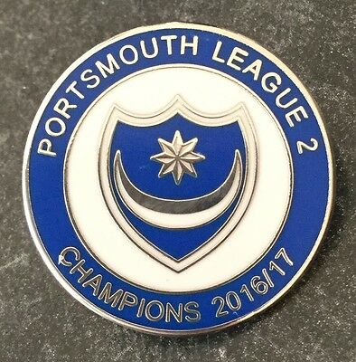 Portsmouth League 2 Champions 2016/17 Football Enamel Pin Badge
