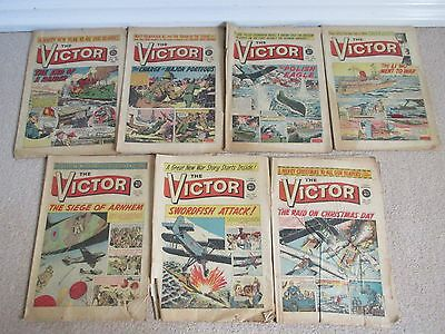 VICTOR COMICS x 7 from 1963 Fair condition, No's 98,104,113,114,129,144,148,