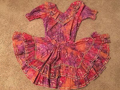 Beautiful Pre-owned RHYTHM CREATIONS Square Dance Blouse And Skirt Batik Print