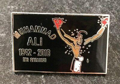 Muhammad Ali - The Greatest 1942-2016 Souvenir Enamel Pin Badge - Ltd Edition