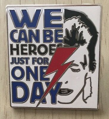 David Bowie We Could Be Heroes Enamel Pin Badge - Rare And Collectable