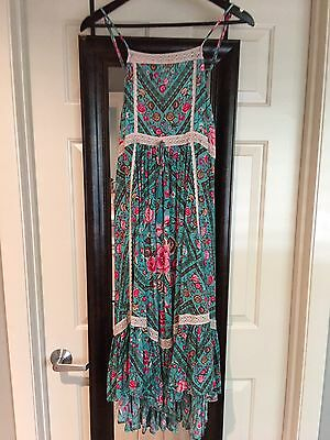 spell and the gypsy collective Babushka Strappy Turquoise Size S BNWT
