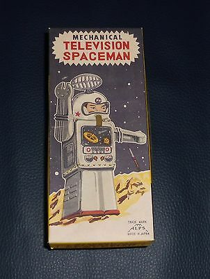 Top Original Karton TELEVISION SPACEMAN Alps Japan 60er Space Vintage Roboter