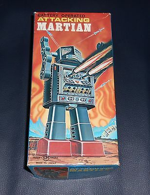 Top Original Karton ATTACKING MARTIAN SH Robot 60er Space Vintage Japan Roboter