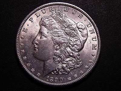 1890 P Morgan Dollar Uncirculated, Very Lustrous, Nice Silver Coin!
