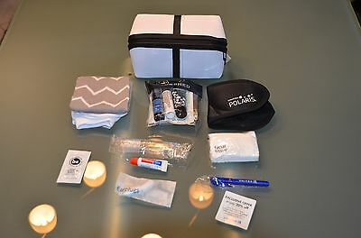 "United Airlines Amenitykit ""SaksFifthAvenue"" White  2017 Brandneu!!!!TOP!!!"