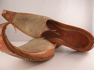 """A pair of SUPERB leather handmade ISLAMIC PERSIAN """" Aladdin """" style shoes"""