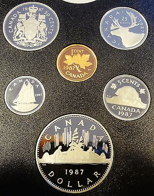 1987 Canada 6 coins uncirculated proof set