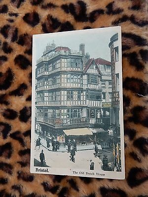 Early postcard - The Old Dutch House street scene - Bristol