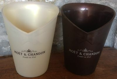 "2 FABULOUS FRENCH ""MOET & CHANDON"" CHAMPAGNE COOLERs, ICE BUCKET's, SEKT"