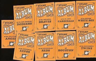 9 Different 1969 Topps Stamps Empty Booklets Aaron Rose Brock