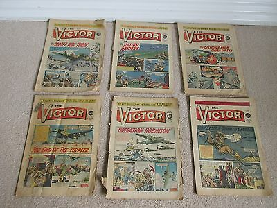 VICTOR COMICS x 6 from 1961 Fair condition very rare, No's 13,14,15,16,19,23