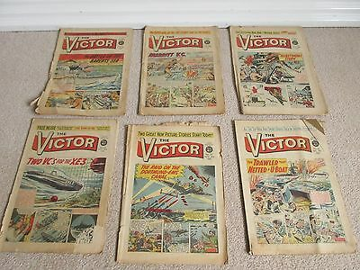 VICTOR COMICS x 6 from 1961 Fair condition very rare, No's 24, 26, 27, 32, 37,42