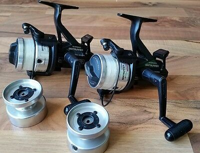 moulinets débrayables Shimano baitrunner 3500 fishing reels + spare spools