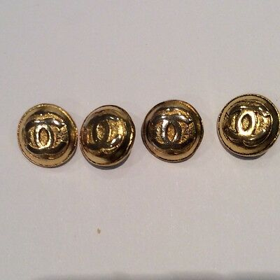 4 Small Chanel Gilt Buttons