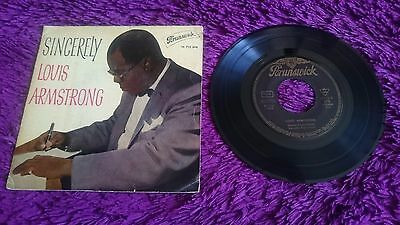 "Louis Armstrong ‎– Sincerely , Vinyl, 7"",  EP , 1961 , Spain , 10 712 EPB"