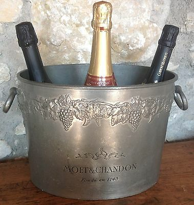 Vintage French MOET & CHANDON Double Magnum Champagne cooler, Ice bucket, grape