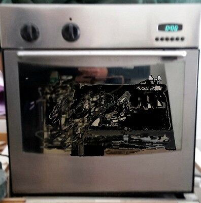 Indesit Electronic Integrated Fan Electric Oven Cooker Built-In Stainless Steel
