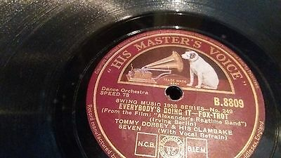 78 rpm singles Tommy Dorsey and orchestra