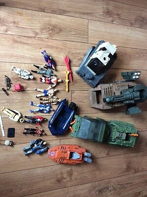 G I Joe Lot Vintage Action Figure Vehicle Lot Cobra Snow Job Weapons More