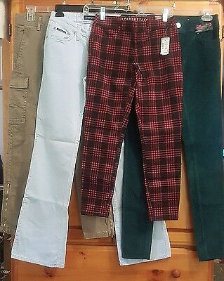 Womens, Jrs (lot of 4 pair) NEW pants Gap Candies Aero Almost Famous sz 000 - 3