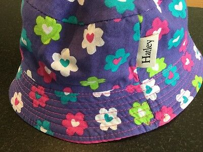 HATLEY girls Floral Reversible Sun Hat 2-4 Yrs New