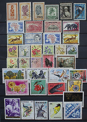 Small Collection of Stamps from Rwanda