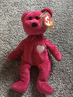 Rare Valentino Ty Beanie Bear  (Tush Tag And Ear Tag Different Years