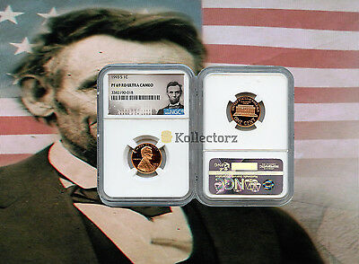 1993 S LINCOLN PENNY PROOF 1c NGC PF69 RD ULTRA CAMEO PORTRAIT LABEL