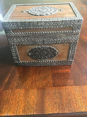 Fantastic Wooden and Silver Ottoman or Islamic Casket / Box from 1800s