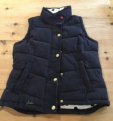 Women`s  Joules Higham Navy Gilet / Bodywarmer  Size UK 10