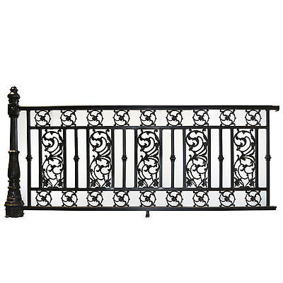 Antique Style Aluminum Railing With Post Architectural Chic Garden,98''l X 45''h