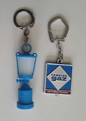 Lot 2 Porte Cles * Camping Gaz * Logo Emaille / Lampe A Gaz * Loisir / Keychain
