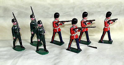 vintage hollow cast lead toy soldiers british crimea victorian painted