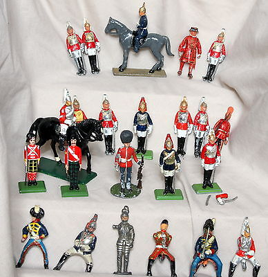 britains and others metal lead soldiers foot and mounted