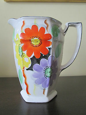 Antique Arthur Wood Floral Flowery Art Deco Jug - Very Pretty