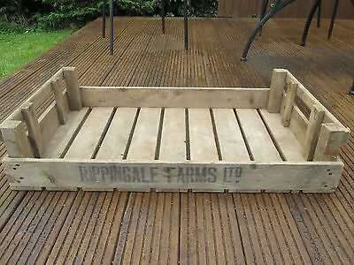 Vintage Wooden Chitting Storage Tray