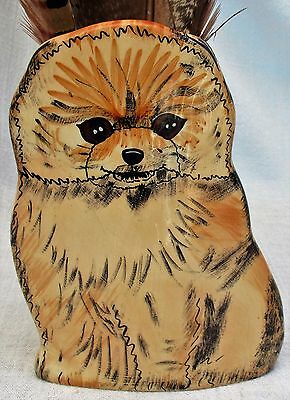 Dogs by Nina Ceramic Pomeranian Dog Vase Planter Nina Lyman