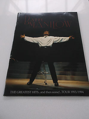 BARRY MANILOW 1993-94 GREATEST HITS Tour Programme With Ticket