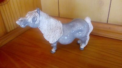 cheval ceramics pottery pony grey smiling