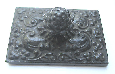 Antique Ornate Cast Iron Paper Weight.