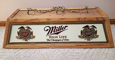 Original Vintage  Miller beer pool table light  Beautiful! Extremely Rare