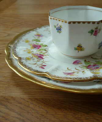 Mismatched Floral, Pink and Gold Vintage China trio