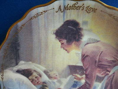 """NORMAN ROCKWELL Mother's Day Plate 1997 HER TENDER TOUCH 8.25"""" BRADFORD EXCHANGE"""