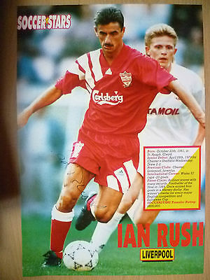 100% Genuine Hand Signed Press Cutting of Liverpool FC Player - IAN RUSH