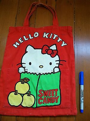 Vintage 1976 Hello Kitty Sweet Candy Tote Bag B3