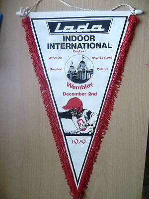 Speedway Pennants 1979-LADA INDOOR INTERNATIONAL-England,US,NZ & Etc(apx.34x20cm