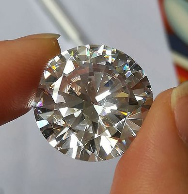 20 MM Brilliant Round  Cubic Zirconia White High quality free shipping