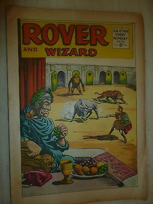 Comic- THE ROVER and WIZARD - 6th January 1968